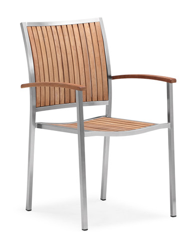 Teak patio chair outdoor dining chair (Y003MF)