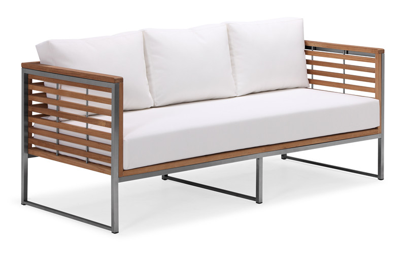 Hot sale modern teak outdoor deep seat furniture sofa set (S030MF3)