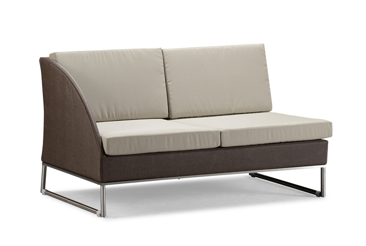 Outdoor patio sofa left sectional (S113MBR2)