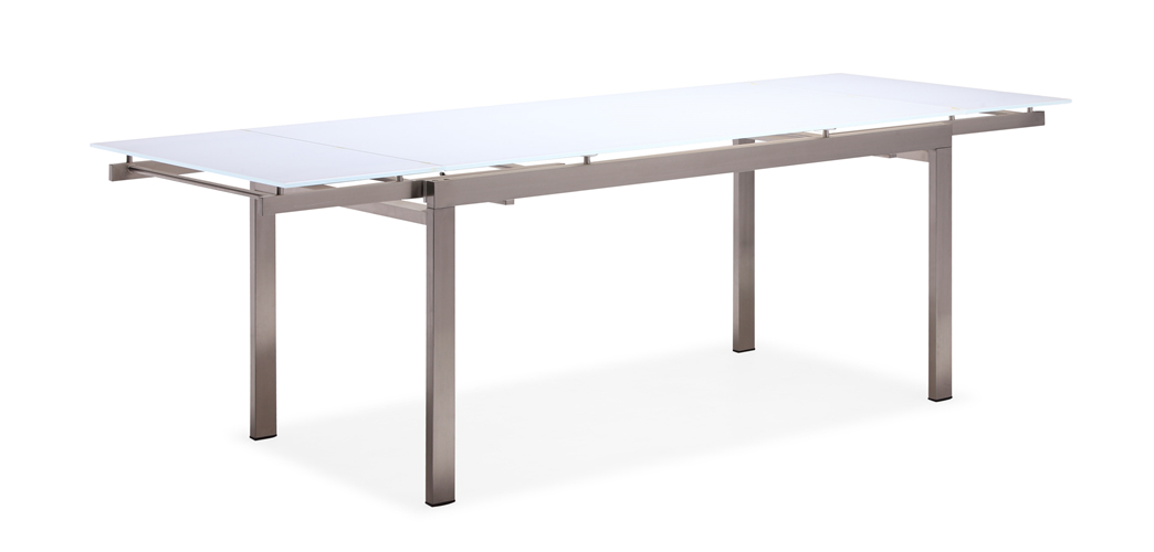 Stainless steel extension dining table outdoor table (T026G-A)