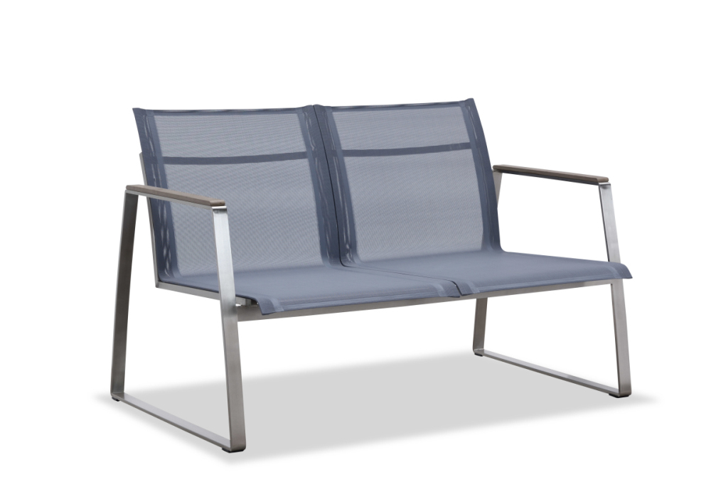 Outdoor sling love seat with metal legs(S303BF2)